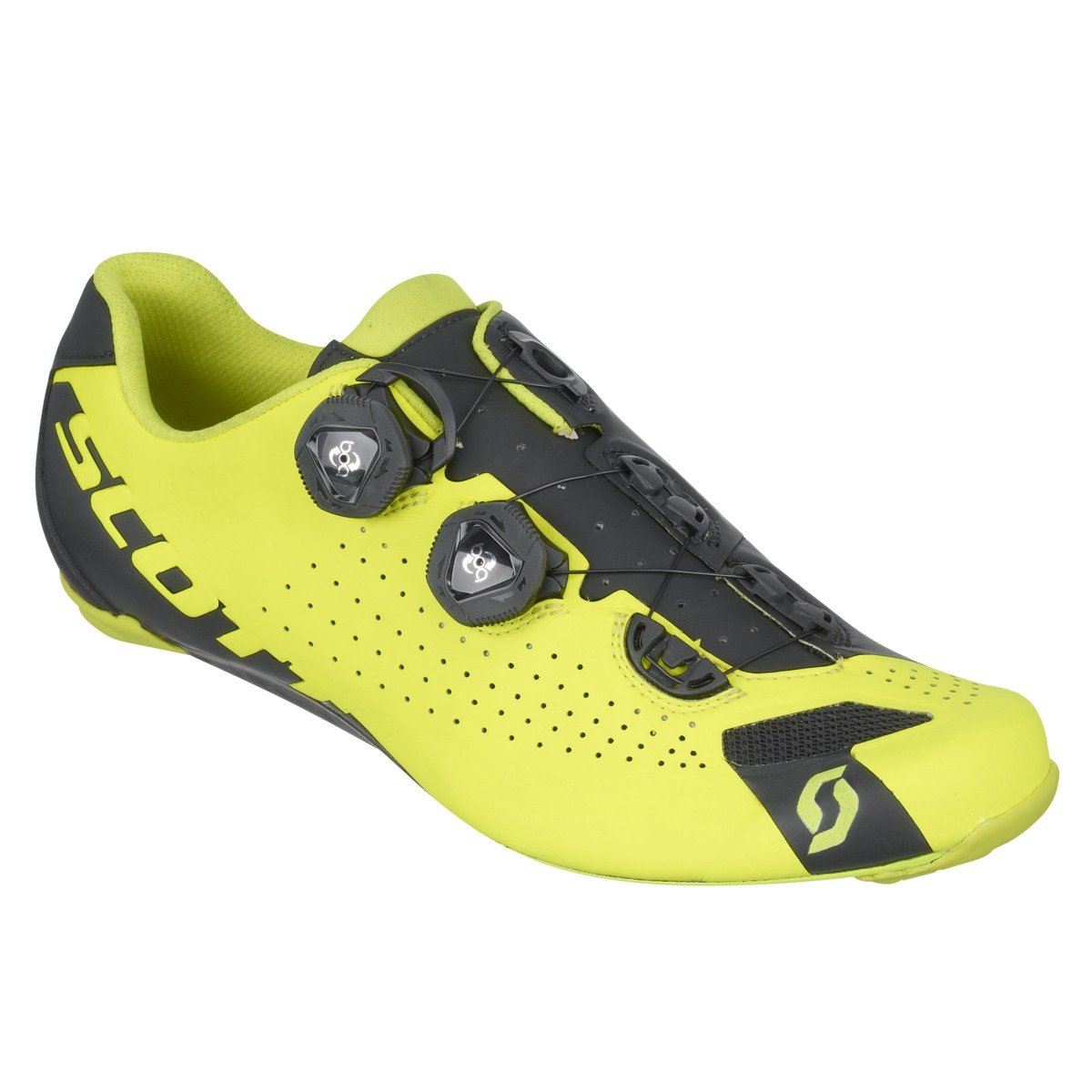 Yellow And Black Cycle Shoes