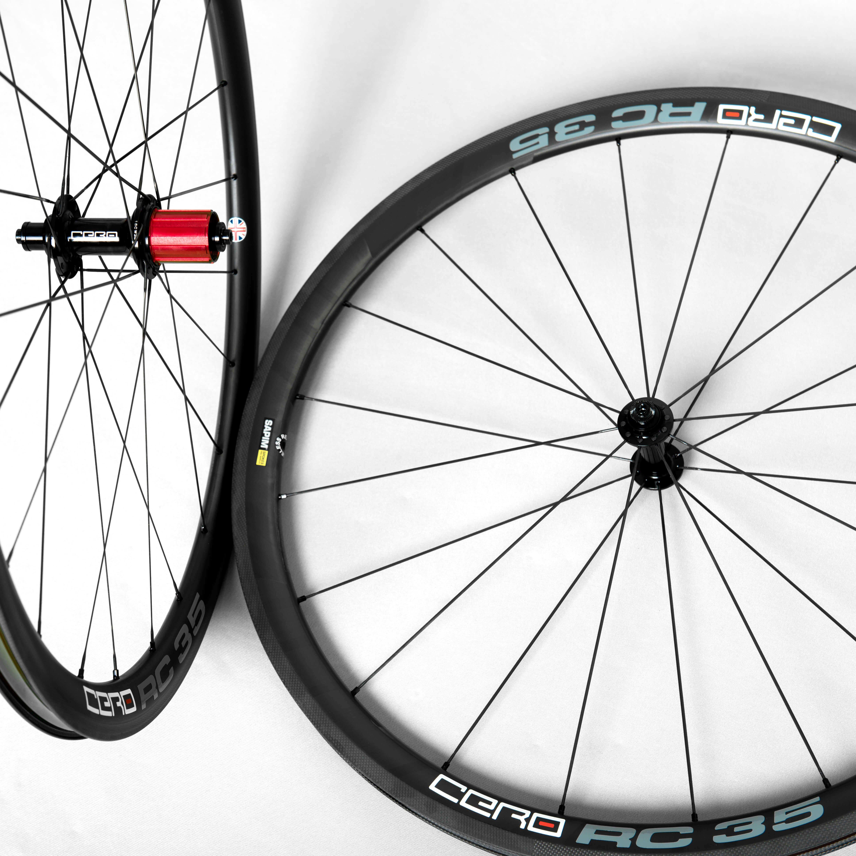 Cero Rc35 Carbon Clincher Wheelset Road Bike Wheels