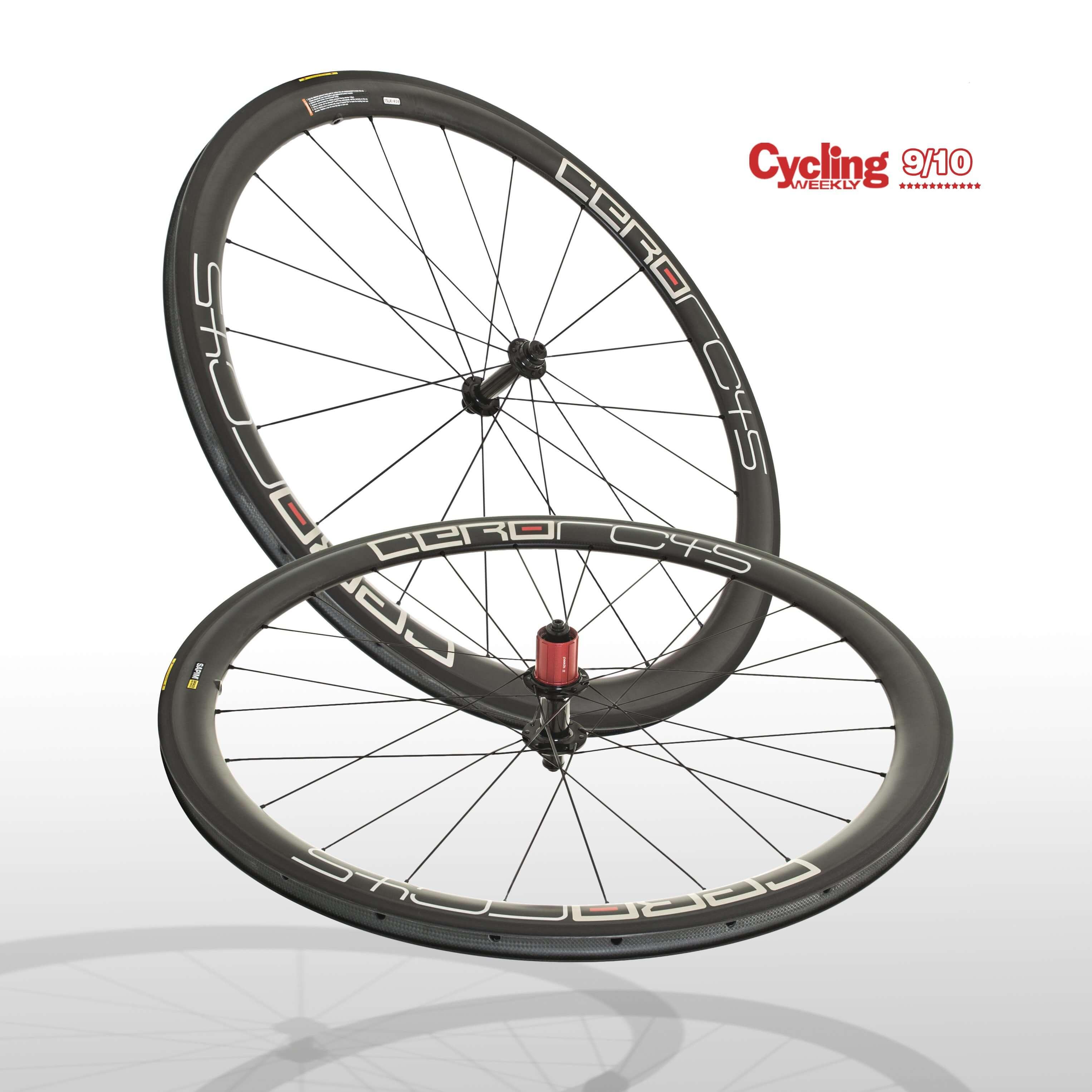Cero RC45 Carbon Clincher Wheelset 0045 F20/R24